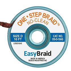 One-Step No Clean Desoldering Braid .100